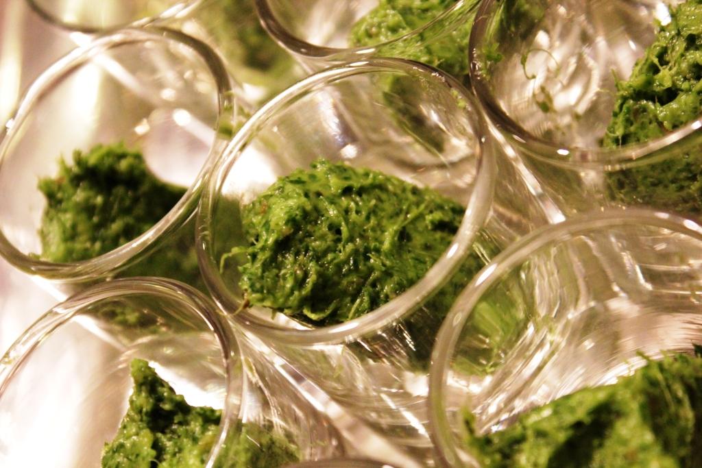 Pesto d'herbes fraiches à la pâte de lard de porc noir gascon