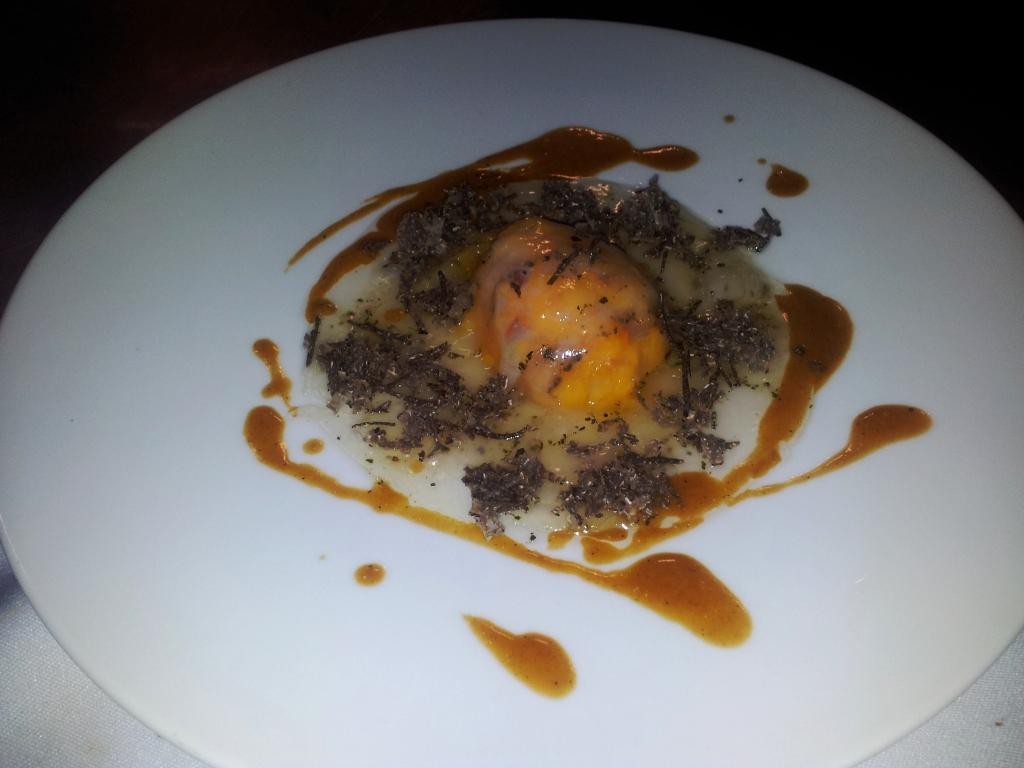 Fausse raviole de potiron aux truffes
